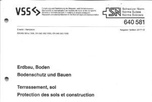 Pagina di titolo della norma VSS SN 640581